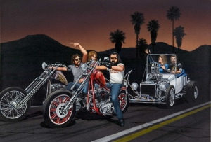 Bikes Towing Hotrod